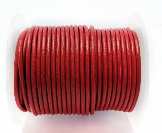 Round Leather cords  2,5mm - Red