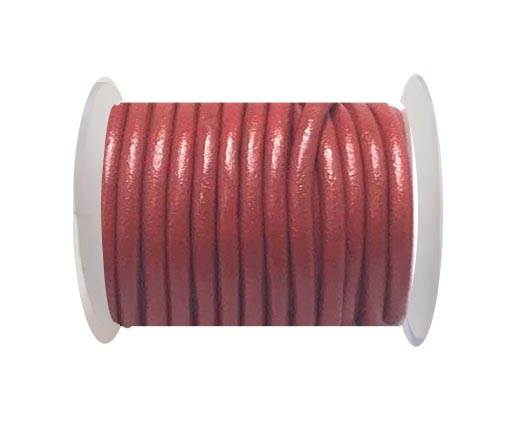 Round Leather Cord - 5mm - Red