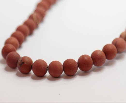 Natural Stones-8mm-Red Jasper Frosted