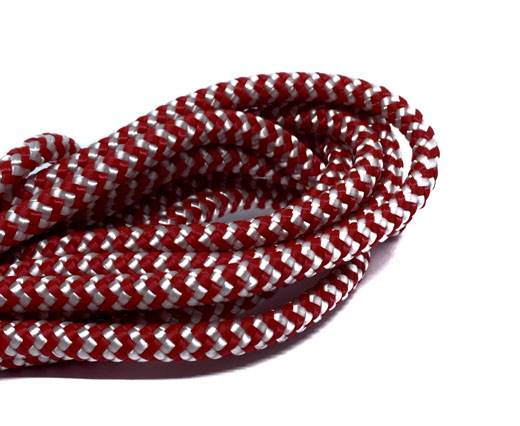 Paracord 6mm - RED WHITE