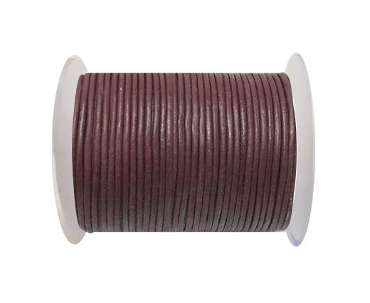 Round leather cord 2mm-RED WINE