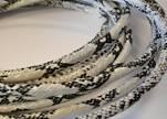 Regaliz-Leather-Snake Style-white