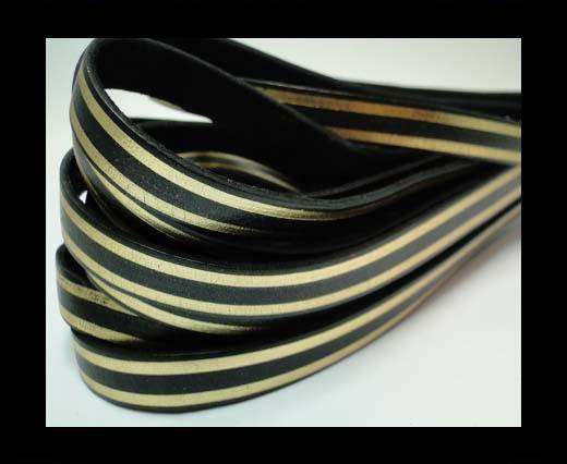 Buy RFL-10MM with stripes on both sides-Black with golden at wholesale prices