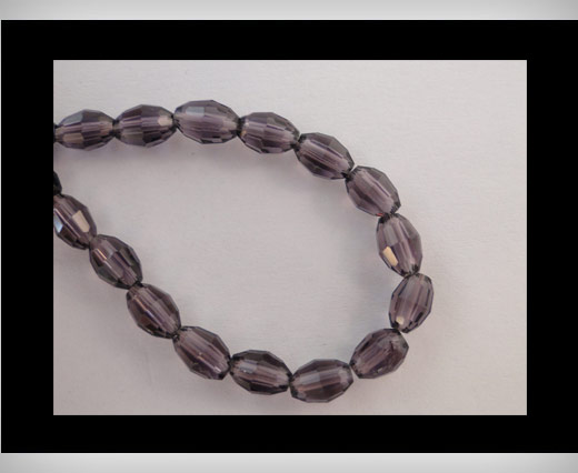 Buy Rice Glass Beads -4mm*6mm-Amtheyst at wholesale prices