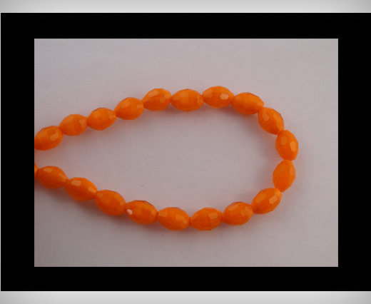 Rice Glass Beads -4mm*6mm-Fire Opal