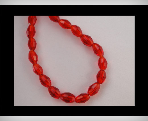 Rice Glass Beads -4mm*6mm-Granate