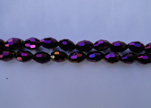 Rice Glass Beads-4mm*6mm-Metallic Amethyst