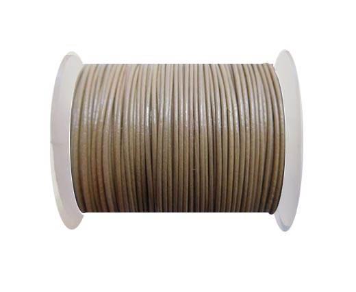 Round Leather Cord -1mm- Khakhi (P_045)