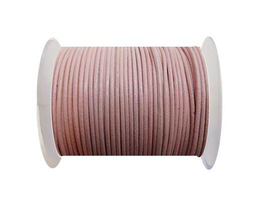 Round Leather Cord -1mm- ROSE
