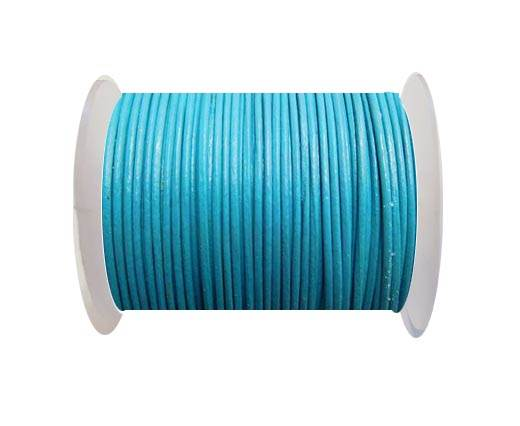 Round Leather Cord -1mm- TURQUIOSE