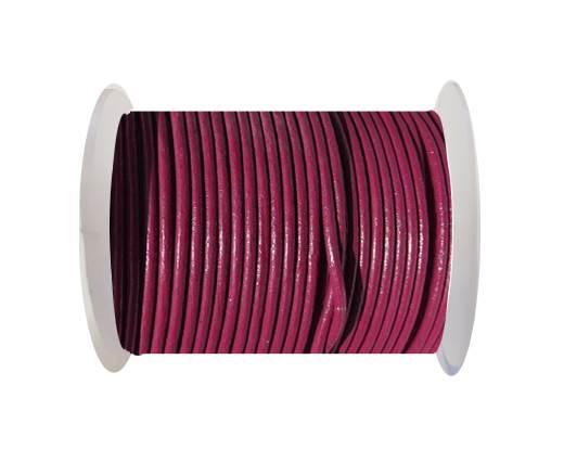 Round leather cord-2mm-SE FUSHIA