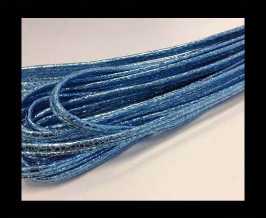 RNL- 5mm-Stitched-Snake Style - Metallic Light Blue