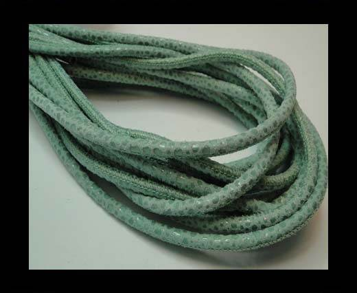 Buy Round stitched nappa leather cord 4mm - Round Stitch RAZA MINT + PAILL.TRANSP at wholesale prices