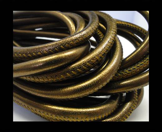 Round stitched nappa leather cord Bronze2 -6 mm