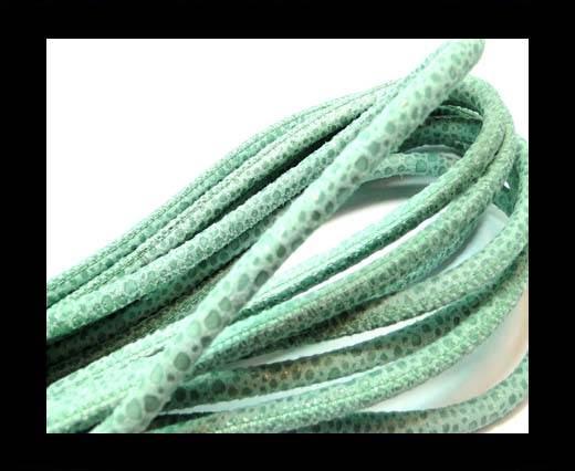Round stitched nappa leather cord 6mm-Raza Mint