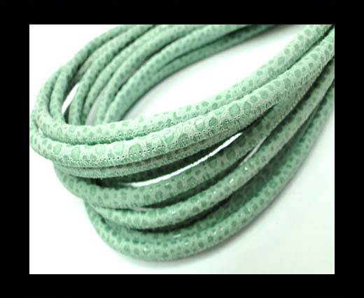 Buy Round stitched nappa leather cord 4mm-Raza Mint at wholesale prices