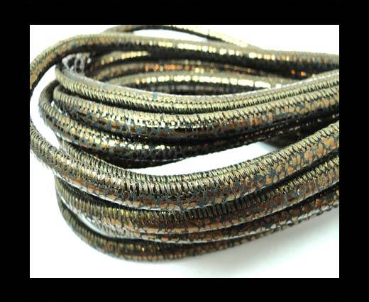Buy Round stitched nappa leather cord 4mm-Raza style bronze at wholesale prices