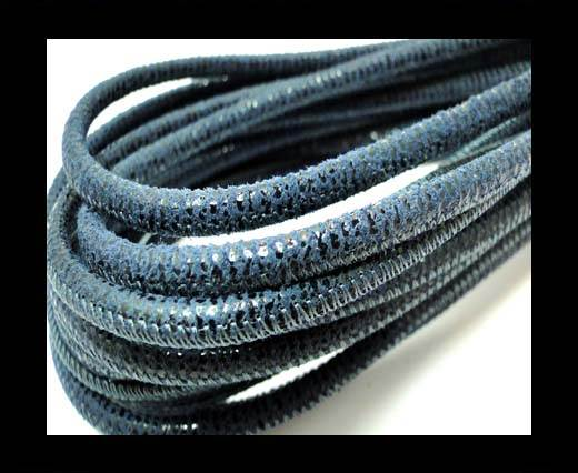 Buy Round stitched nappa leather cord 4mm-Jeans Blue at wholesale prices