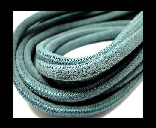Buy Round stitched nappa leather cord 4mm-SUEDE Blue at wholesale prices