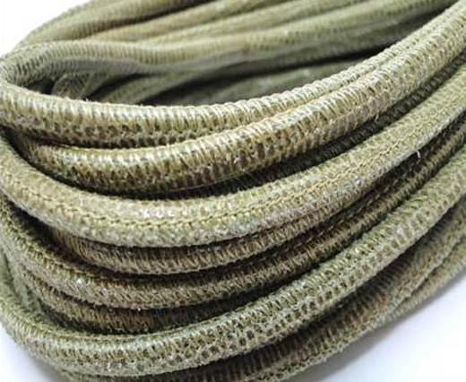 Round stitched nappa leather cord 4mm-Lizard Send