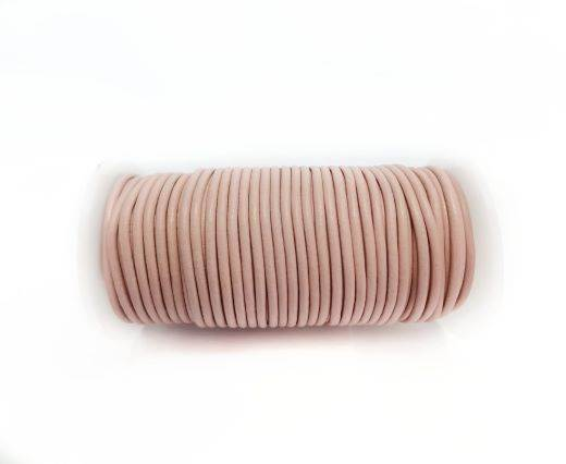 Round leather cord-2mm-ROSE