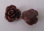 Rose Flower-14mm-Coffe