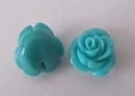 Rose Flower-14mm-Turquoise