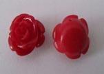 Rose Flower-24mm-Red