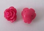 Rose Flower-32mm-Fuchsia