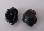 Rose Flower-40mm-Black