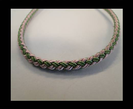 Buy Round-Braid-Cotton-Green & Pink at wholesale prices