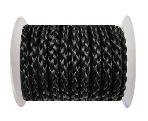 Round Braided Bolo cords - 6mm-SE Black