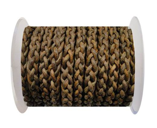 Round Braided Bolo cords - 6mm-SE Dark natural