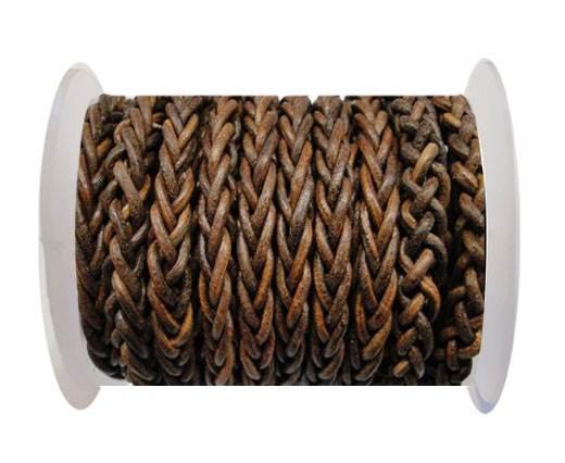 Round Braided Bolo cords - 6mm-SE Vintage cognec