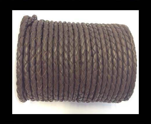 Fine Braided Nappa Leather Cord-SE-03-4mm