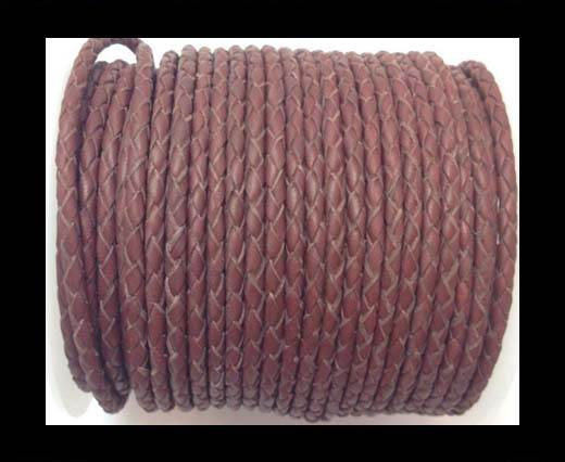 Fine Braided Nappa Leather Cord-SE-24-4mm