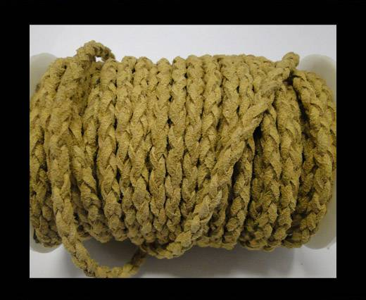 Buy Round Braided Suede Cord - 4mm - Beige at wholesale prices