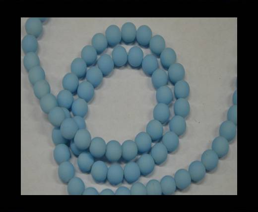Buy Round Glass beads 8mm - Neon Light Blue at wholesale prices