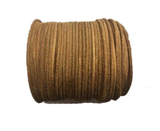 Round Hairy Leather -2mm- Vintage tan