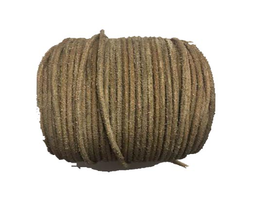 Round Hairy Leather -2mm- Vintage taupe
