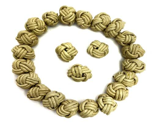 Leather Beads -8mm-Beige