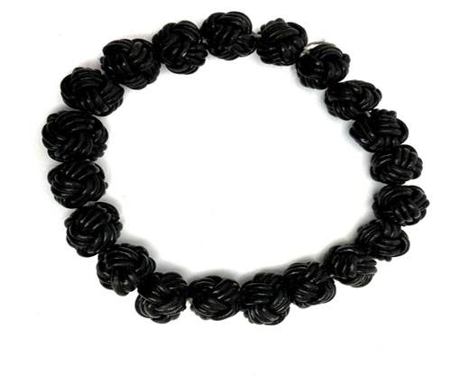 Leather Beads -12mm-Black