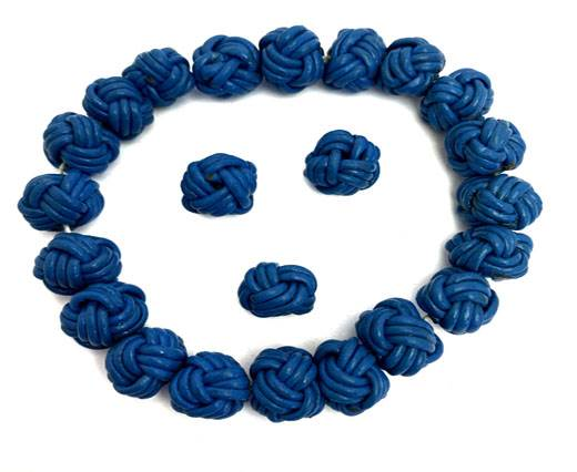 Leather Beads -8mm-Blue