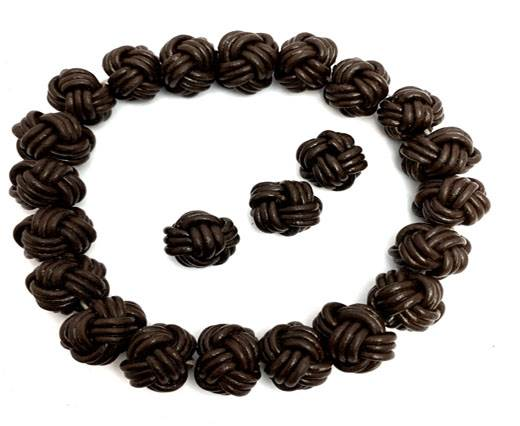 Leather Beads -12mm-Brown