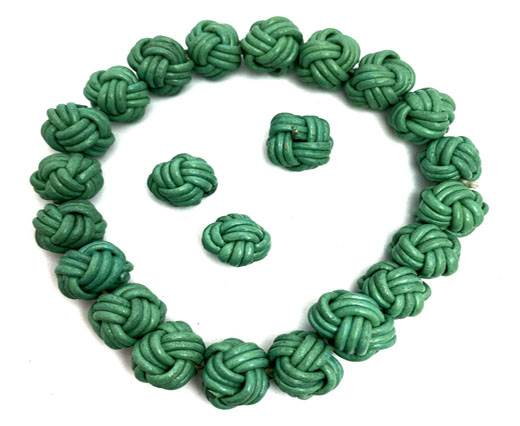 Leather Beads -12mm-Green