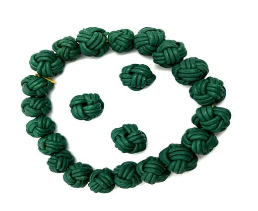 Leather Beads -8mm-Green