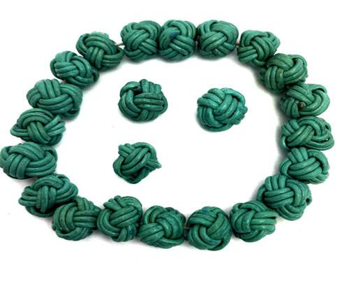 Leather Beads -8mm-Mint