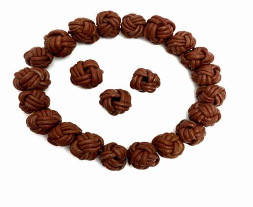 Leather Beads -8mm-Tan