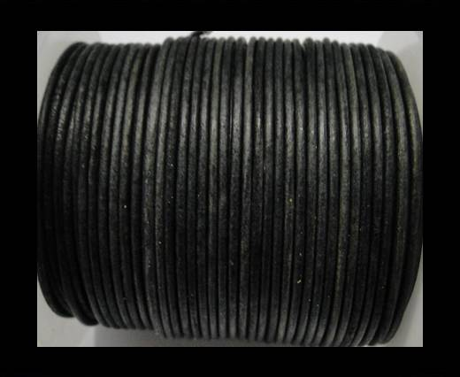 Buy Round Leather Cord Vintage Grey - 1,5mm at wholesale prices