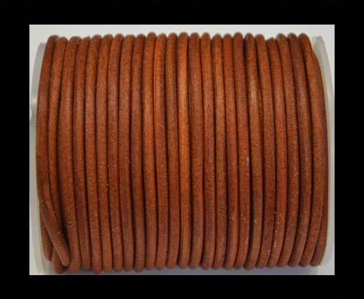 Round Leather Cord 4mm-Vintage Orange